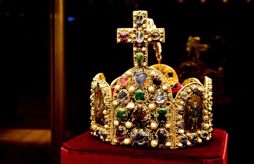 Crown of the Holy Roman Empire (as the crown of Charlemagne) made in the second half of the tenth century. It was worn by all the emperors until the seventeenth century.