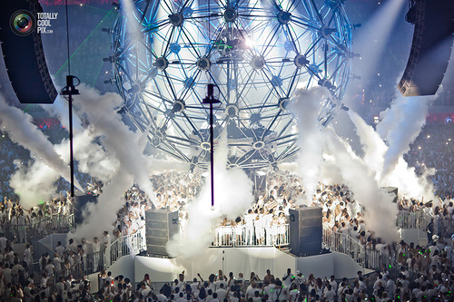 Electronic music festival Sensation White in Amsterdam