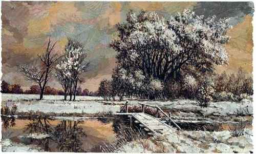 Floral Mosaics by Russian artist Alexander Yurkov
