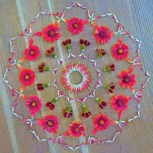 Awesome Flower mandala by Kathy Klein