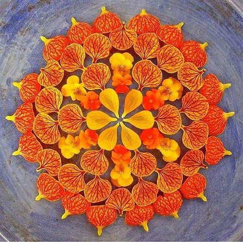 One-of-a-kind Flower mandala by Kathy Klein