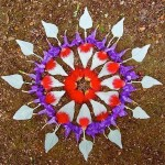 Blue and red Flower mandala