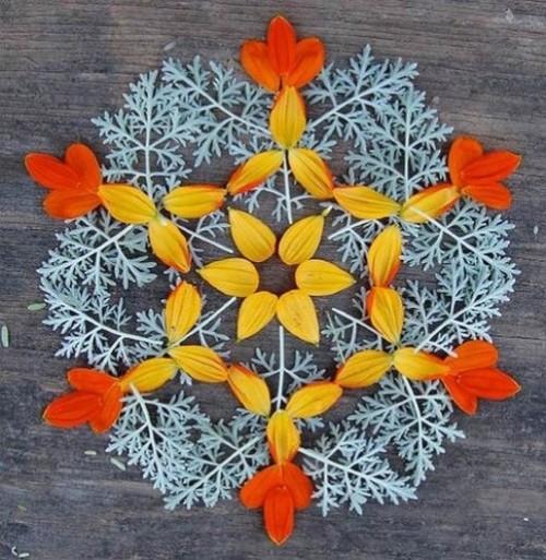Resembling snowflake Mandala