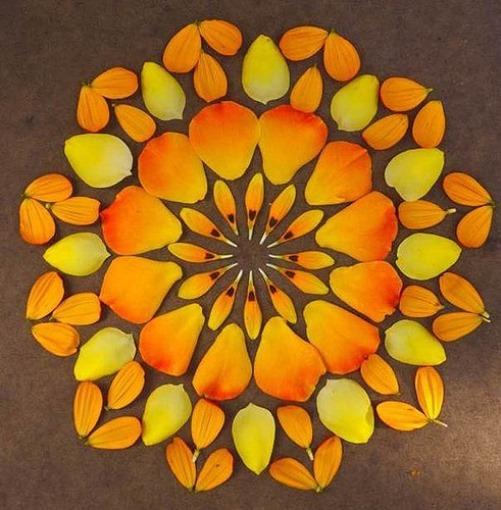 Gorgeous flower petal Mandala