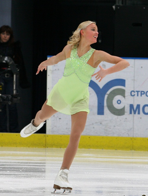 Gerboldt during her short programm at the 2007 Cup of Russia