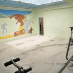 The gym in one of four blocks