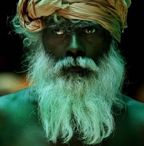 Bearded man - Hindu pilgrim