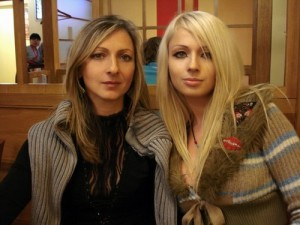 Irina Pashkeeva with her daughter Valeria, in 2005, before turning into the doll