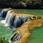 Chinese Nine Village Valley waterfalls