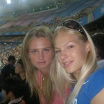 Klishina with her friend Ksenia Vdovina.