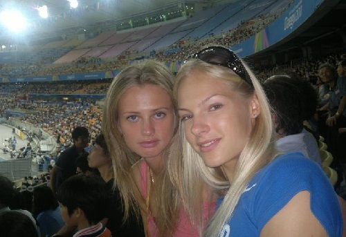 Klishina with her friend Ksenia Vdovina.