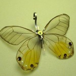 Transparent wings of a butterfly. Steampunk Insects by American artist Mike Libby