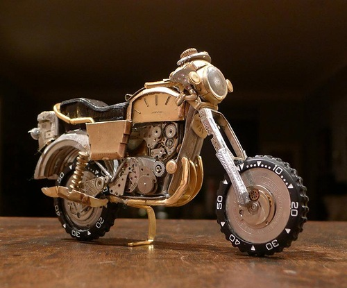 Dan Tanenbaum's motorcycles made from watch parts