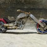 Created by Ontario based craftsman Dan Tanenbaum – Miniature motorcycle from vintage watch parts