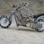 Beautiful Miniature motorcycle from vintage watch parts, made by Dan Tanenbaum, Canada
