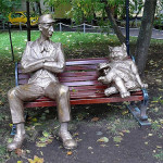 "Behemoth and Koroviev, Russia. Based on the novel by Mikhail Bulgakov ""The Master and Margarita"""