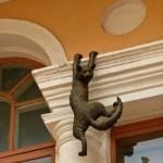 Nizhny Novgorod, Russia. Monument to the hunting cat