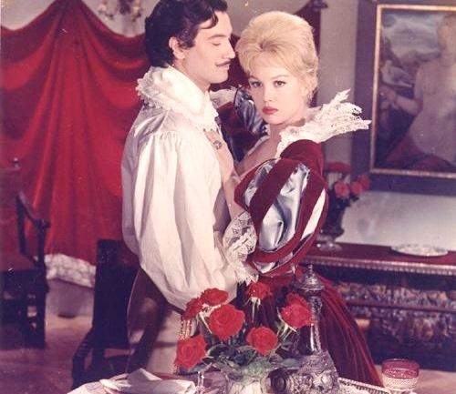 Mylene Demongeot as Milady De Winter and Gerard Barray, in 'Three Musketeers'