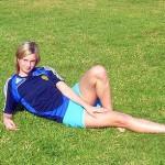 Olga Petrova, the most beautiful Russian football player