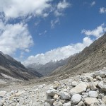 Mountains with Amarnath Cave