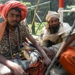 Two men going to the sacred Amarnath Cave