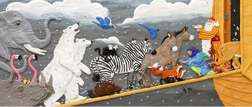 Plasticine illustrations by Canadian artist Barbara Reid