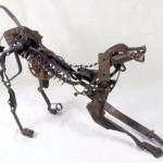 Scrap metal sculptures by Sayaka Ganz