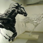 Scrap metal sculptures by Sayaka Ganz