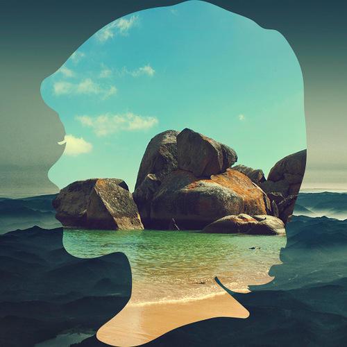 Silhouette landscapes Young Boys by graphic artist Aritz Bermudez