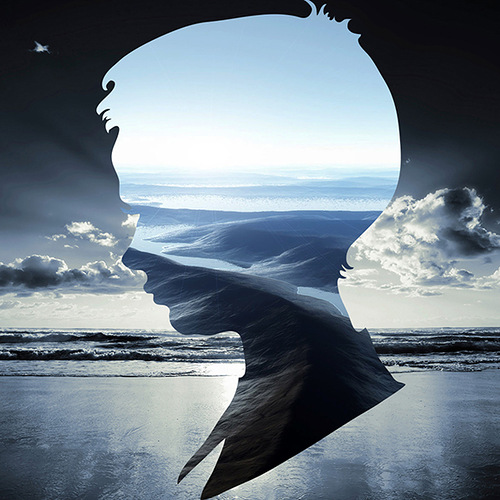 Silhouette landscapes by graphic artist and designer from Guatemala Aritz Bermudez
