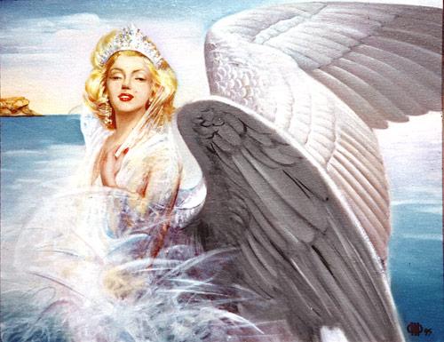 Swan Monroe. Painting by Faridun Zoda