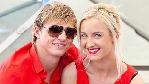 Olga Buzova and her husband Dmitry Tarasov