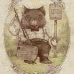 Cute wombat. Illustration by American artist Teagan White