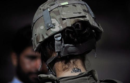 U.S. soldier Michelle Byrnes