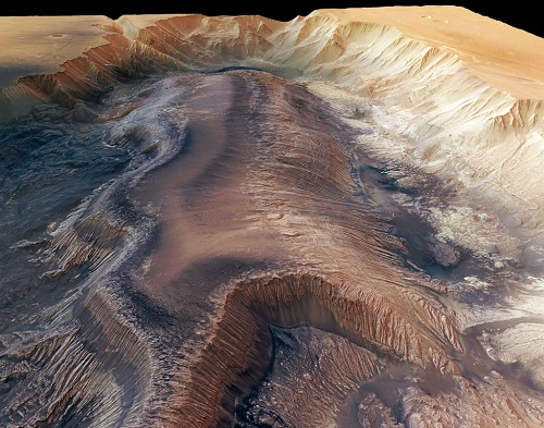 Mariner Valleys the biggest canyon in the Solar System. Photo by NASA World Wind