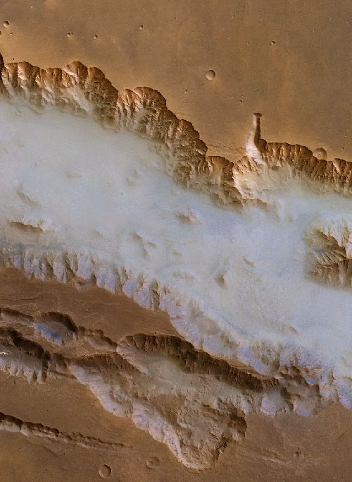 Valles Marineris (Mariner Valleys) the biggest canyon in the Solar System. Photo by NASA World Wind