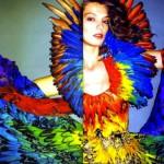 Alexander McQueen Spring 2003 & Spring 2008 Rainbow Dress