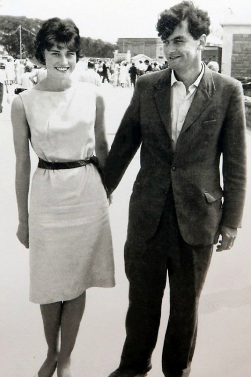Winston Howes and Janet Howes beautiful young couple