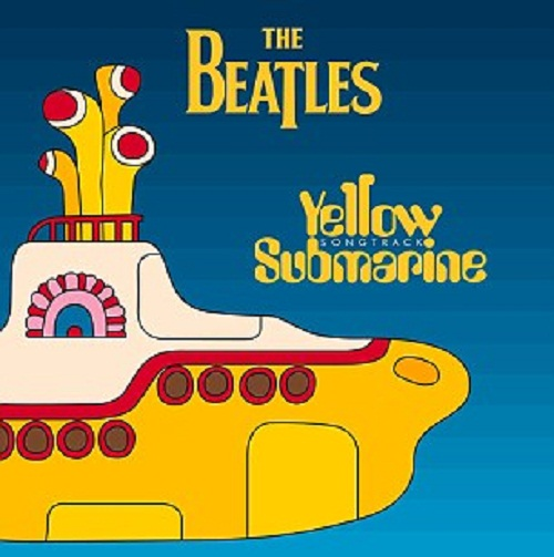 The iconic image of album cover with Yellow Submarine