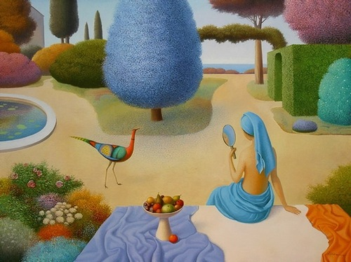 Blue inspiration. Painting by Ukrainian artist Evgeni Gordiets