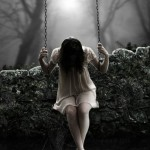 Girl on the swing. i_s_o_l_a_t_e_by_j_u_d_a_s. Digital art by British artist Paul