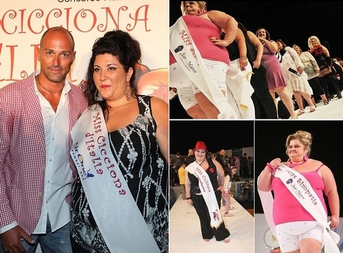 Italian Miss Cicciona Pageant for over-weight beauties