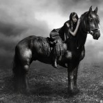A woman on the horse. t_r_u_s_t_by_j_u_d_a_s. Digital art by British artist Paul