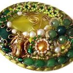 Decorative jewelry art by Russian artist Olga Yakubovich
