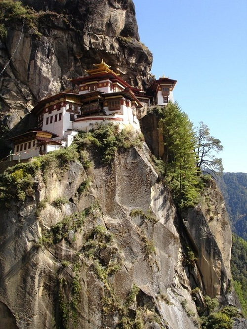 Located high in the mountains, Tiger's Nest monastery in Bhutan