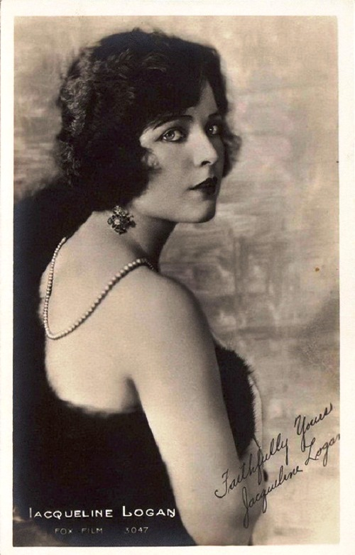 Most popular actress of 1920s Jacqueline Logan