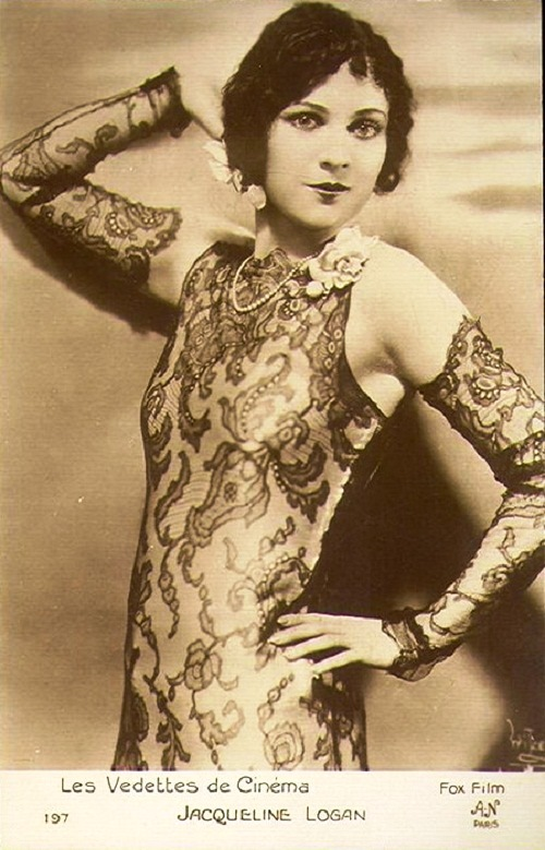 Jacqueline Logan - beautiful and very popular movie star of the 1920s