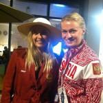 Beautiful model Nadja Ditrich and Russian professional basketball player Nadezhda Grishaeva
