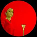 Red Painting by Spanish artist Salustiano Garcia Cruz