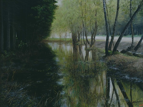 Realistic painting by Russian artist Yuri Arsenyuk